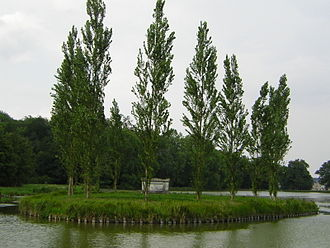 French landscape garden - Rousseau's cenotaph, on a lake island at Ermenonville