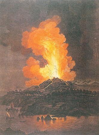 Mount Etna - An artist's impression of 1766 eruption