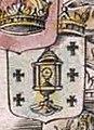 Escudo da Galiza no mapa Typus Hispaniae de Nicolas Berey (1641).jpg