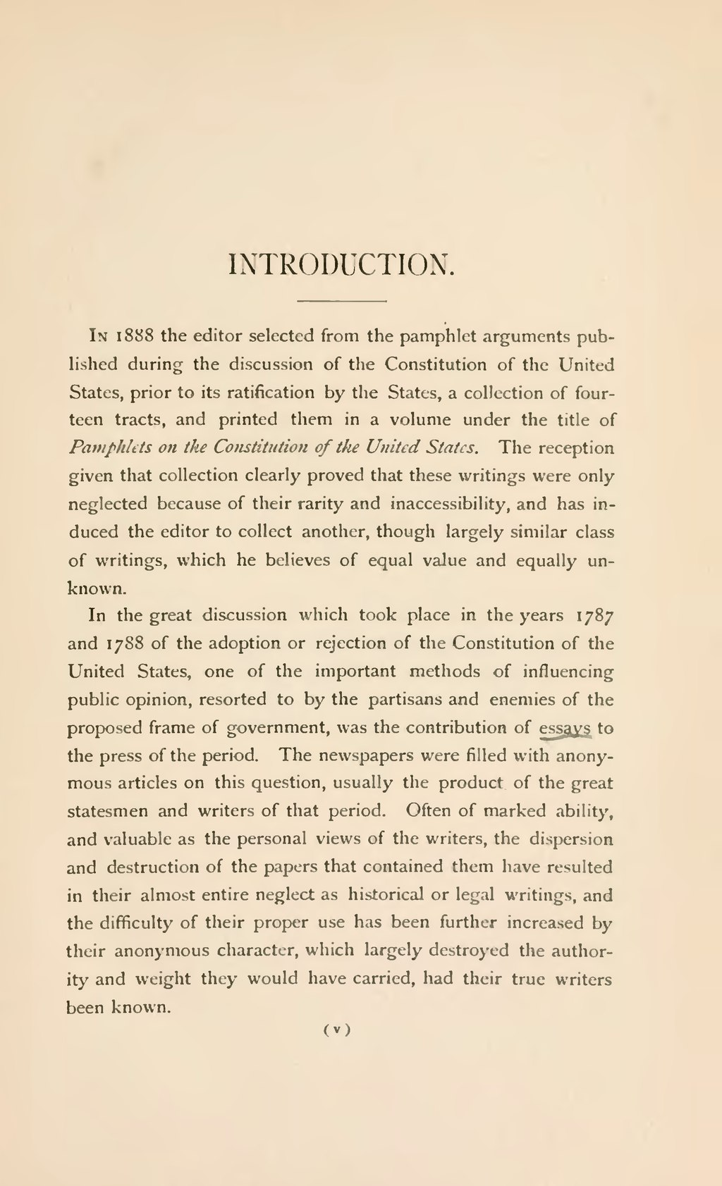 Science And Religion Essay Pageessays On The Constitution Of The United States Published During Its  Discussion By The People Djvu  Wikisource The Free Online  Library Business Management Essay Topics also Reflection Paper Example Essays Pageessays On The Constitution Of The United States Published  Good Topic For A Persuasive Essay