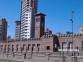 Districts of Rosario - Seat of the Center District, at the former Rosario Central railway station.