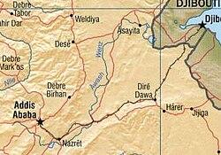 נהר האוואש נובע מדרום לאדיס אבבה ונשפך לימת אבה