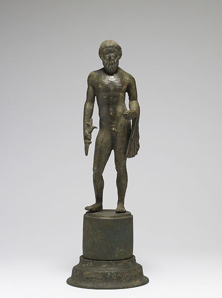 Greek statuette of Zeus, the mythological deity in honor of whom the ancient Olympic Games were held (c. 5th century BC) - Ancient Olympic Games