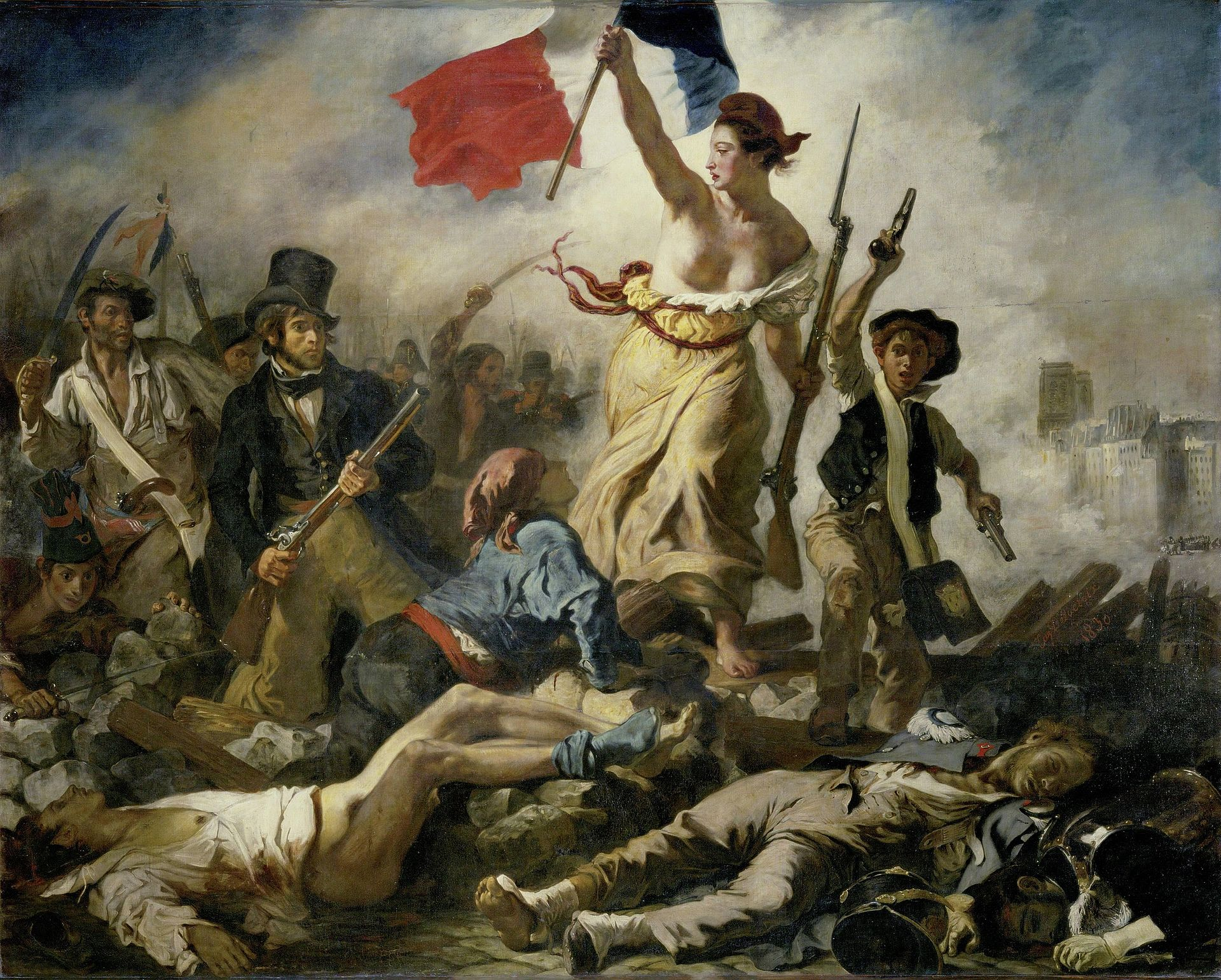 liberty leading people painting eugene delacroix