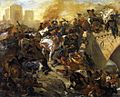 Eugène Delacroix - The Battle of Taillebourg (draft) - WGA6190.jpg