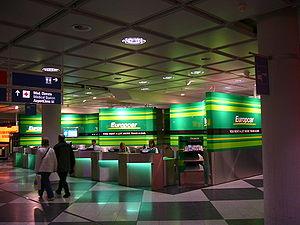 Europcar - Europcar counters at Munich Airport-Franz Josef Strauß.