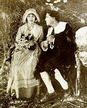 Evangeline (1919 film) - Miriam Cooper and Alan Roscoe in still from film (Motion Picture Magazine, February 1920)