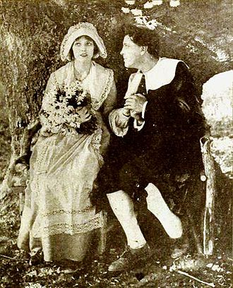 Evangeline (1919 film) - Miriam Cooper and Alan Roscoe in still from film (Motion Picture Magazine, February 1920).