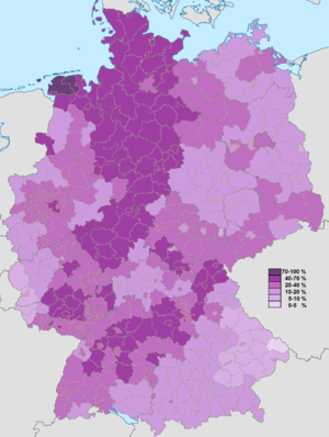 Old states of Germany - Image: Evangelisch Zensus 2011
