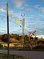 Evening creeping up on the old railroad crossing.jpg
