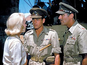 Peter Lawford - Eva Marie Saint, Paul Newman and Lawford in Exodus (1960)
