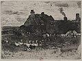 Félix Hilaire Buhot - The Little Thatched Cottages - 1940.883 - Cleveland Museum of Art.jpg