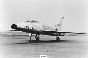 "Buzz number - This F-100 has the buzz number ""FW-754"" on its nose."