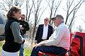 FEMA - 34611 - Senator Blanche Lincoln speaking with residents in Arkansas.jpg