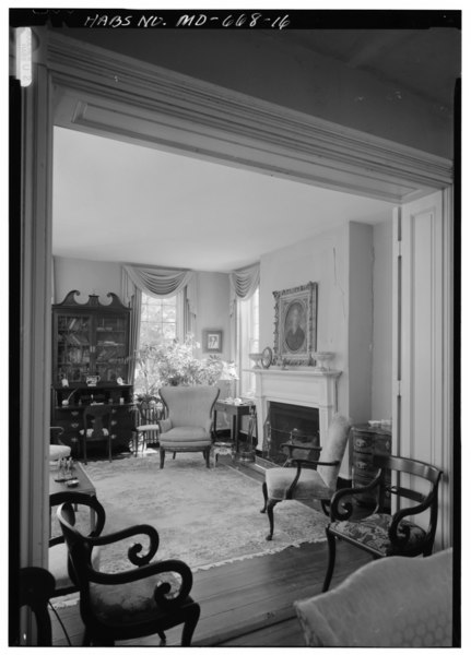 File:FIRST FLOOR, SOUTH PARLOR, LOOKING THROUGH DOUBLE DOORWAY FROM WEST PARLOR INTO SOUTH PARLOR - Weston, Old Crain Highway Vicinity, Upper Marlboro, Prince George's County, MD HABS MD,17-MARBU.V,1-17.tif