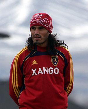 Fabián Espíndola - Espíndola training with Real Salt Lake in 2011