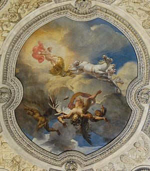 Icarus - The Sun, or the Fall of Icarus (1819) by Merry-Joseph Blondel, in the Rotunda of Apollo at the Louvre