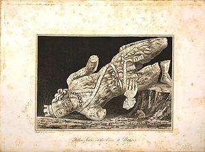 Colossal Statue of Shapur I - Fallen statue of Shapur I, 1817