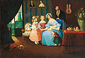 Familie im Vestibül Biedermeier c1840.jpg