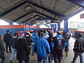 Fans Ride LIRR to Mets' 2014 Home Opener (13541327095).jpg