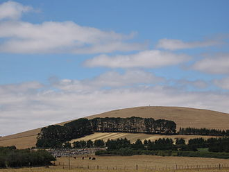 Lancefield, Victoria - Farmland south of Lancefield: The local cemetery can be seen in the right foreground