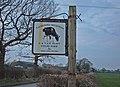Farm Sign, Occlestone Green - geograph.org.uk - 375805.jpg