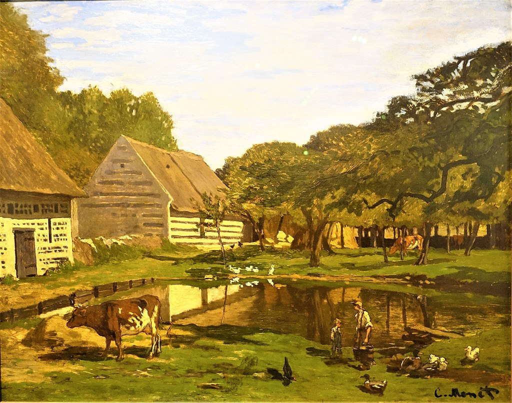 """Farmyard in Normandy"" byClaude Monet"