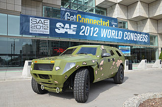 United States Army CCDC Ground Vehicle Systems Center - FED Bravo on display in April 2012.