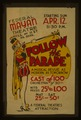"""Federal Mayan Theatre, Hill at 11th St., (presents) """"Follow the parade"""" LCCN98517706.tif"""