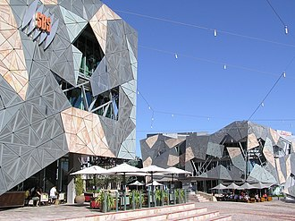 Special Broadcasting Service - The SBS building in Melbourne's Federation Square