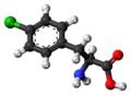 Fenclonine molecule ball.png