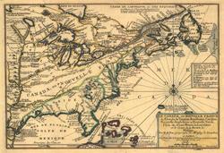 Mapa de Nueva Francia, por Nicolas de Fer (1702).