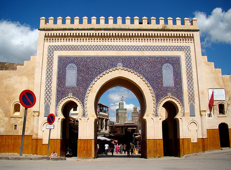 Morocco, blue gate of fez