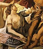 Detail from Anselm Feuerbach's Amazon battle