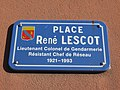 Feyzin - Place René Lescot - Plaque (avr 2019).jpg