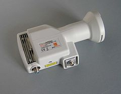 An optical fibre LNB (with fibre connection and conventional F-connector for power input) FibreLNB.jpg