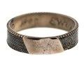Fingerring av guld med hårmattal, 1809 - Hallwylska museet - 110202.tif