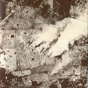 Bukhara - Bukhara under siege by Red Army troops and burning, 1 September 1920