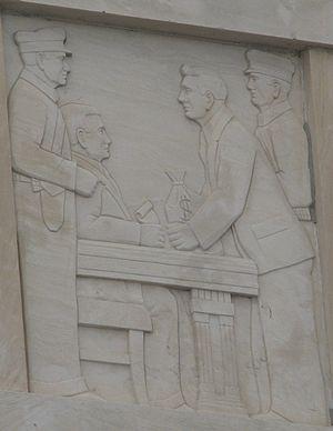 First National Bank Building (Beaumont, Texas) - Image: Firstnatdetailbmt