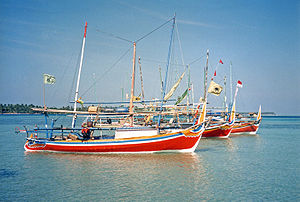 Karimunjava - Fishing boats in the main harbour