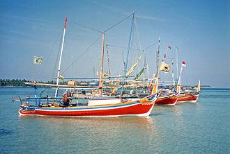 Karimunjawa - Fishing boats in the main harbour