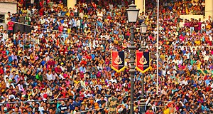 Wagah border ceremony - Indian Crowd Watching the Ceremony