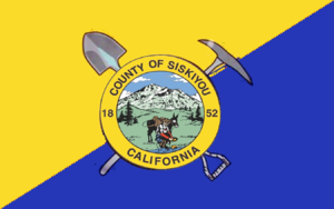 Mount Shasta, California - Image: Flag of Siskiyou County, California