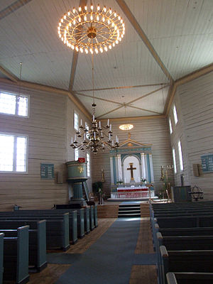 Octagonal churches in Norway - Interior of Flekkefjord Church