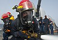 Flickr - Official U.S. Navy Imagery - A hose team sprays water at a target during a damage control Olympics..jpg