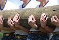 Flickr - Official U.S. Navy Imagery - U.S. Naval Academy plebes carry a log as part of teamwork training during Sea Trials..jpg