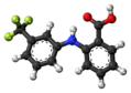 Flufenamic acid molecule ball.png