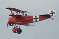 Fokker Dr.I Manfred Richthofen Pass three 06 Dawn Patrol NMUSAF 26Sept09 (14596625331).jpg