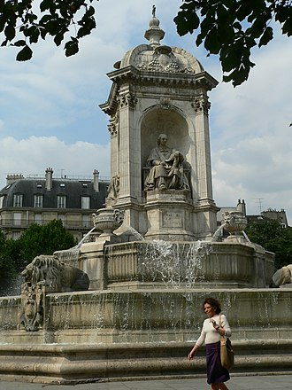 Jean Baptiste Massillon - Statue of JB Massillon on the Fountain of the Four Bishops, Place Saint-Sulpice, Paris