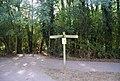 Footpath signpost near Haysden Country Park - geograph.org.uk - 1530239.jpg